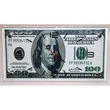 Часы стекло настенные Купюра Доллары 40*24см