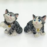 Кот полосатый с колокольчиком 16*12 см