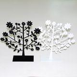 Дерево металл -подставка д/украшений b/w 20*20 см