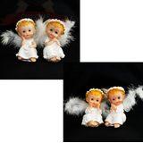 Ангелок сидит полист.пух 10*6 см четыре вида (1уп-4шт)1шт