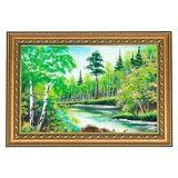 Картина каменная крошка Летний пейзаж (20х30 см)