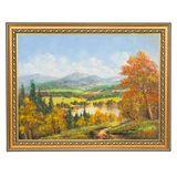 Картина каменная крошка Озерный край багет №4 (30х40 см)