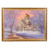 Картина каменная крошка Воскресенский собор багет №7 (50х70 см)