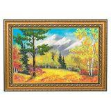 Картина каменная крошка Осенний пейзаж багет №3 (20х30 см)