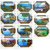Картина Байкал 34*24 см (каменная крошка) 10 видов