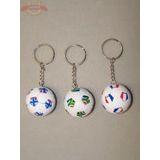 Брелок футбол/волейбол мяч кож. d=5см (1уп-12шт) 1шт