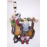 Фонтан 220В цв.подсветка Бочка вина (бездонная бутылка) доп. кран 50*35см