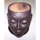 Кашпо керамика Голова девы (с поддоном)