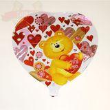 Шар фольга (с клапаном) Сердце с Мишкой 40*45 см