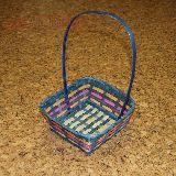 Корзина плетеная цветная 24*25*40см