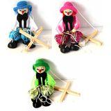Кукла клоун-марионетка 3 цвета (дерево) Россия