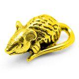 Фигура кошельковая металл Мышка золотая
