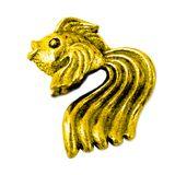 Фигура кошельковая металл Золотая рыбка золотая