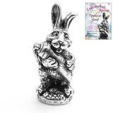 Фигура кошельковая металл Счастливый кролик