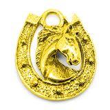 Фигура кошельковая металл Подвеска конская подкова золотая