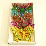 Магниты Бабочки блестящие со стразами УПАКОВКА 12шт