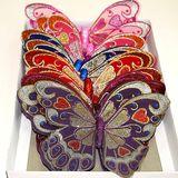 Магниты Бабочки блестящие УПАКОВКА 12шт (р-р одной бабочки 20*15см)