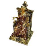 Фортуна с рогом изобилия на троне фигура из полистоуна 25.5*14*14.5 см