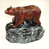 Копилка гипс Медведь на скале 26*24*18см