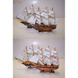 Корабль с парусами дерево (4 вида) 40*35см