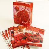 Пакеты подарочные пвх Розы УПАКОВКА 12шт (1шт=18р, 24*18*7 см)