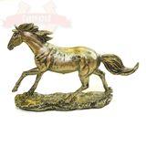 Лошадь полистоун металлик 24*17*6 см