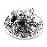 Фигура кошельковая металл Лягушка на монетке