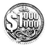 Фигура кошельковая металл Монета 1 000 000 $