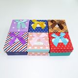 Коробка подарочная с бантом ассорти с подушкой (1уп-6шт)1шт 9*9*5.5см ТОЛЬКО УПАКОВКАМИ