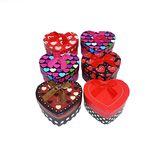 Коробка подарочная сердце с бантом ассорти (1уп-6шт)1шт 8.5*7.5*4.5см ТОЛЬКО УПАКОВКАМИ