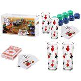 Покерный набор (60фишек+карты+2стакана) (габ. кор. 30.5*15*5.5см)