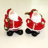 Дед мороз круглый с подарками полистоун 16*13 см