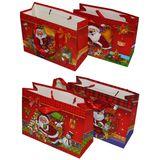 Пакет подарочный 3d новогодний 24*18*10см 4вида (1уп-12шт)1шт No:.284B-4