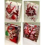 Пакет подарочный 3d новогодний 40*30*12см 4вида (1уп-12шт)1шт No.8148L-1