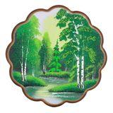 Панно круглое 24*24см (дерево, каменная крошка)№3