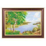 Картина Радуга багет №3 (20х30 см) К140 (дерево, каменная крошка)