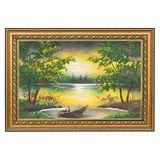 Картина Летняя ночь багет №3 (20х30 см) (дерево, каменная крошка)