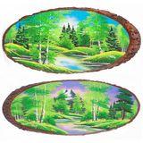 Панно на срезе дерева Лето горизонтальное 60-65 см
