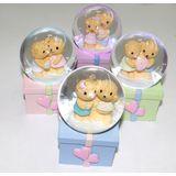 Шар стекло цв.подсветка Мишки на коробке с подарками 7*4*4 см