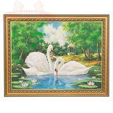 Картина Пара Лебедей (30х40 см)(каменная крошка)