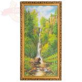 Картина Шум водопада (33*70 см) (каменная крошка)