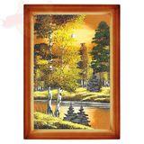 Картина Осень янтарная (20х30 см) (каменная крошка)