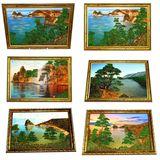 Картина Байкал 33*23 см (каменная крошка) 5 видов