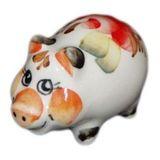 Свинка фарфор малая цветная 4.8 см