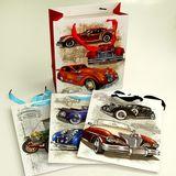 Пакеты подарочные Cars JM-1723M-1 УПАКОВКА 12шт (1шт=32р, 32*26*10 см)