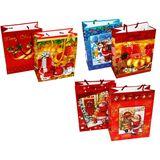 Пакеты подарочные Новый год C-15086 УПАКОВКА 12шт (1шт=18р, 18*23*9 см)