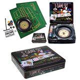 Набор игр в железной кор. 5в1 Roulette/Poker/Black jack/Craps/Poker Dice