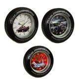 Часы с будильником Колесо Cross Country-Tyre  d- 18см б/б
