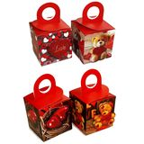 Коробка подарочная 3d Мишки,сердца,love (1уп-20шт-4вида)1шт 10*10*10см УПАКОВКАМИ