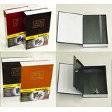Сейф - книга металл с ключами (4цвета) 24*15.5*5.5 см